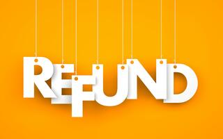 the word refund on strings