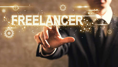 A graphic that says freelancer