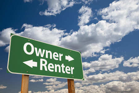 A road sign that says owner renter