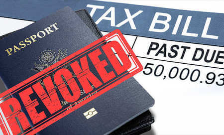 Revoked passports on tax bill