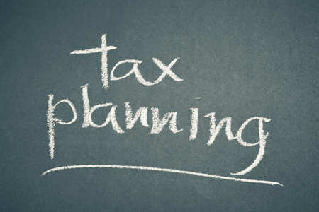 Tax Planning written on Chalk Board